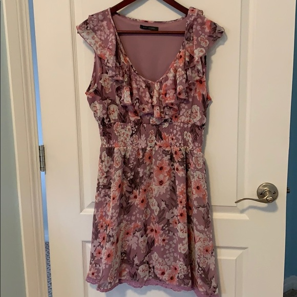 Floral Suzy Shier Purple Dress